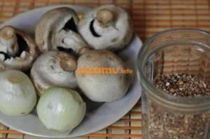 Гречка по-монастырски: с опятами, с шампиньонами, с белыми грибами