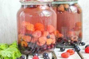 Компот из малины – домашние заготовки по простым проверенным рецептам
