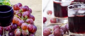 Виноградный сок: польза и вред целебного напитка