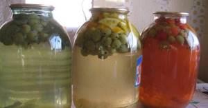 Компот из крыжовника – очень вкусный домашний напиток